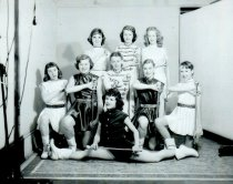 Image of high school majorettes - 1952