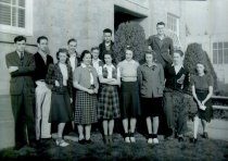 Image of high school annual and newspaper staff - 1941