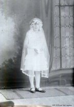Image of First Communion portrait of Lucille Bozanich early 1920's
