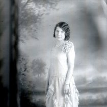 Image of 1928 graduation portrait of Lucille Bozanich