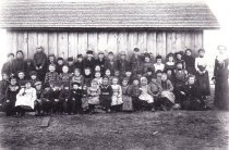 Image of Unknown school, teacher, students