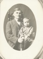 Image of KREBS, George, and son