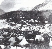 Image of tent city - location unknown