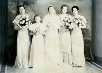 Image of WF 5025 - Wedding party of the bride and her attendants - Antone & Mary Suryan