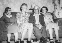 "Image of 2012.106.023 - Elizabeth ""Lizzie"" L. Cahail Ives, Alice & Ira Cahail & Eria Cahail, c.1950"