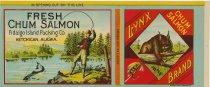 Image of Lynx Brand Chum Salmon Label