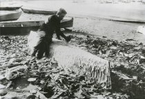 Image of 2002.001 - Carving a dugout canoe