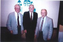 Image of Sig Sandy, Cecil Weyrich, & Earl Fowler, all WSF skippers
