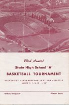 Image of 1947 state basketball tournament program