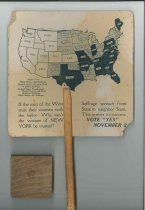 Image of Women's suffrage advertising fan
