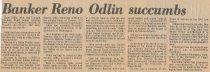 Image of Reno Odlin obituary