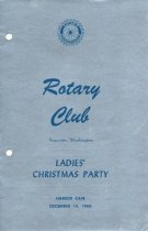 Image of Rotary Club Ladies' Christmas Party program