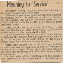 Image of Rotary service projects in 1962