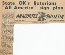 "Image of ""All-America"" sign approval"
