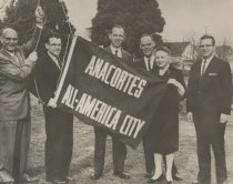 Image of 2012.102.034 - Raising the All-America City flag
