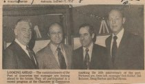 Image of Photocopy of newspaper article/photograph - Port commissioners 1976