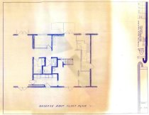 Image of Blueprint of baggage room of depot
