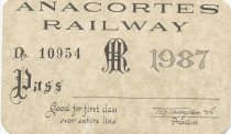 Image of Anacortes Railway pass collection