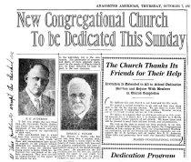 Image of Congregational Church dedication
