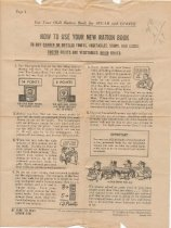 Image of How to use ration book, back
