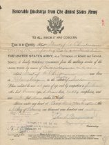 Image of Honorable discharge paper