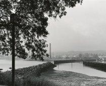 Image of 2014.005.002 - Morrison Mill smokestack and marina