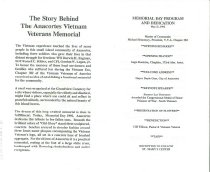 Image of Vietnam Memorial program, inside
