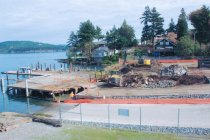 Image of 2014.013.011-.016 - Wyman's Marina, demolition by tractor