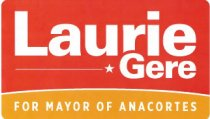 Image of Laurie Gere - car window campaign sign