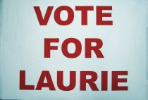 Image of Laurie Gere campaign kickoff poster