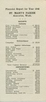 Image of 1946 St. Mary's Parish financial report