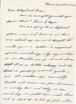 Image of letter from Roy Maricich, p. 1