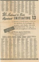 Image of Advertisement against Initiative 13