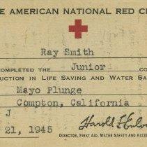 Image of Red Cross Junior Life Saving certificate