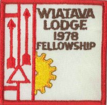 Image of Wiatava Lodge fellowship patch, 1978