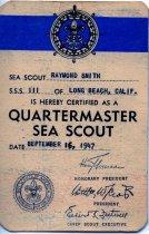 Image of Quartermaster Sea Scout card