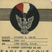 Image of Eagle Scout rank certificate
