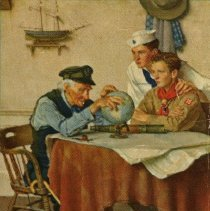 Image of Norman Rockwell copy print
