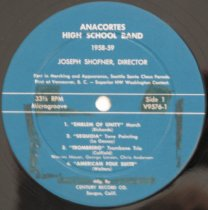Image of AHS 1958-59 band record