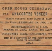 Image of Anacortes Veneer wood ticket