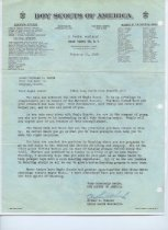 Image of Letter from National Boy Scouts