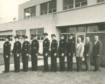 Image of 1997.374.001 - Police officers and public officials