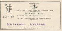 Image of deposit receipt 3/20