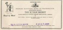 Image of deposit receipt 3/22