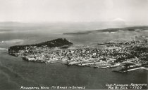 Image of aerial view of Anacortes, postcard