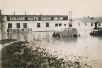 Image of 2014.056.002 - Drake Auto Body Shop with flood