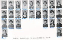 Image of 2009.016.268 - Whitney School  1968-1969 Grade 5