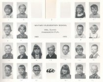 Image of Whitney School 1969-1970 Kindergarten PM