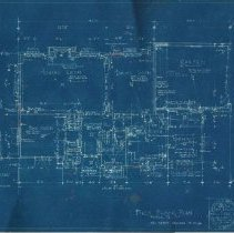 Image of first floor blueprint - Luvera home