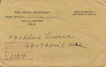 Image of envelope for alien registration card